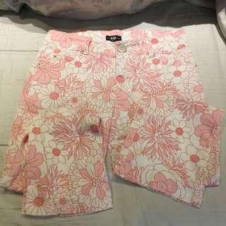 🚚 粉色花卉長褲