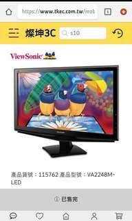 🚚 ViewSonic 22吋電腦螢幕