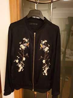 🚚 Zara Embroidery Bomber Jacket