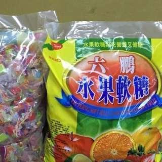 🚚 [雙畇媽咪]全新 六鵬水果軟糖  500公克分享包(opp袋)