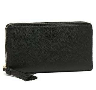 #maudompet Authentic Tory Bruch Taylor Zip Continental Wallet
