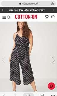 belted wise leg jumpsuit