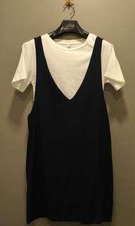 Navy Blue Sleeveless Jumper Dress