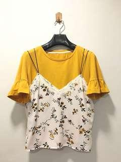 2-Piece Top with Floral Print