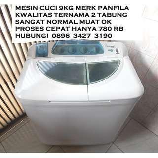 Mesin Cuci 2 Tabung Panfila Muat 9KG Normal Bagus Katapang Kab Bandung