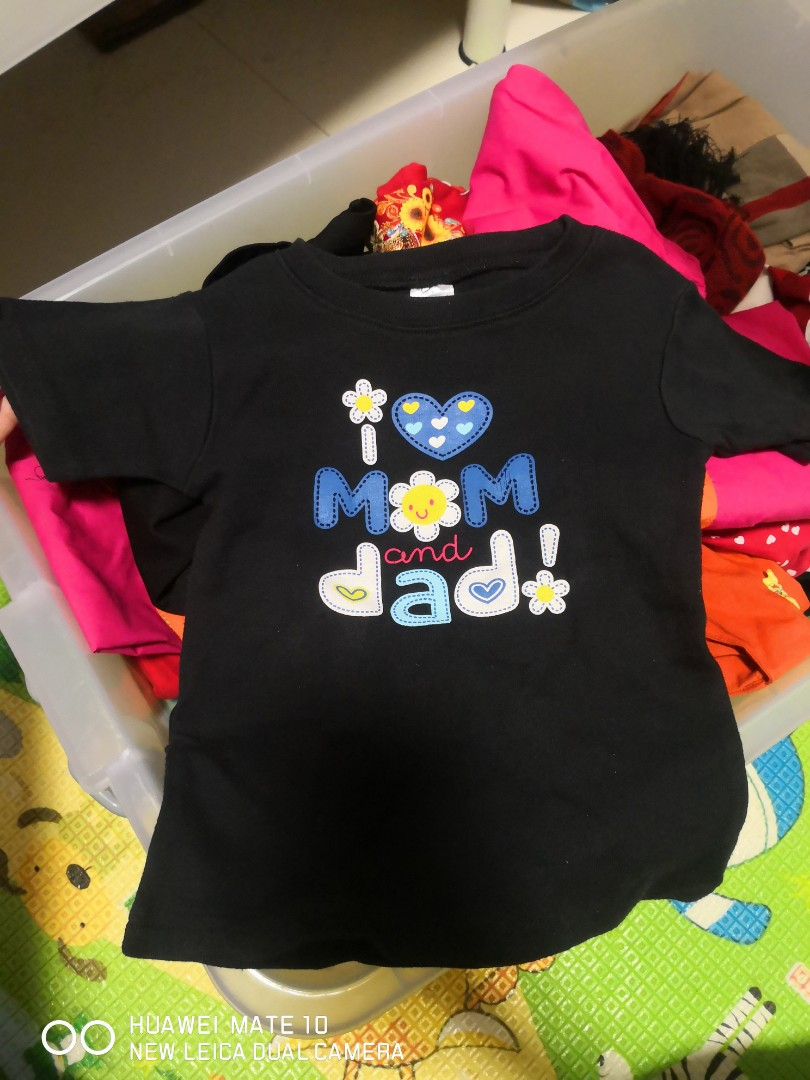 b034ea66 2 years to 5 years Girl t-shirt i love ❤️mom and dad!, Babies ...