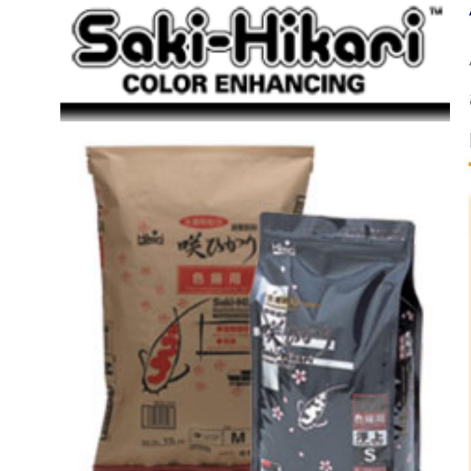 500g $10 Saki-Hikari Color Enhancing s or m size only