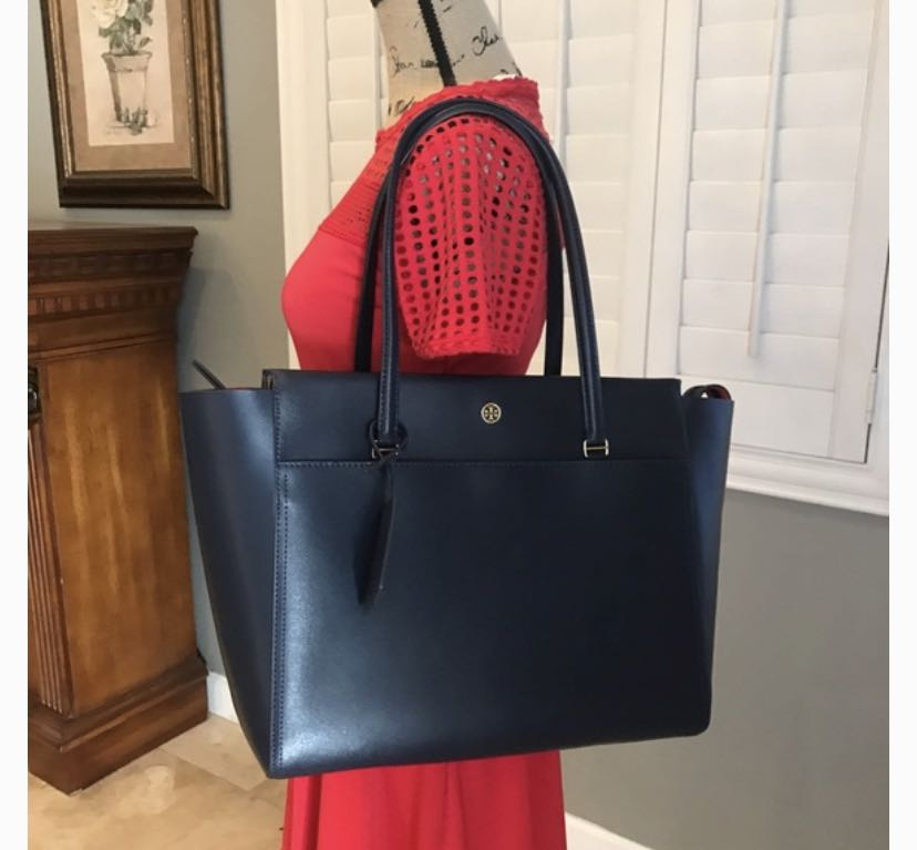 e931fe38777 50% OFF Tory Burch Parker Tote in Navy