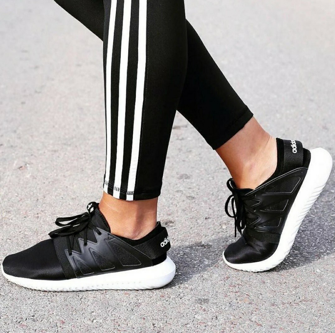 Adidas Originals Black Tubular Viral Trainers,