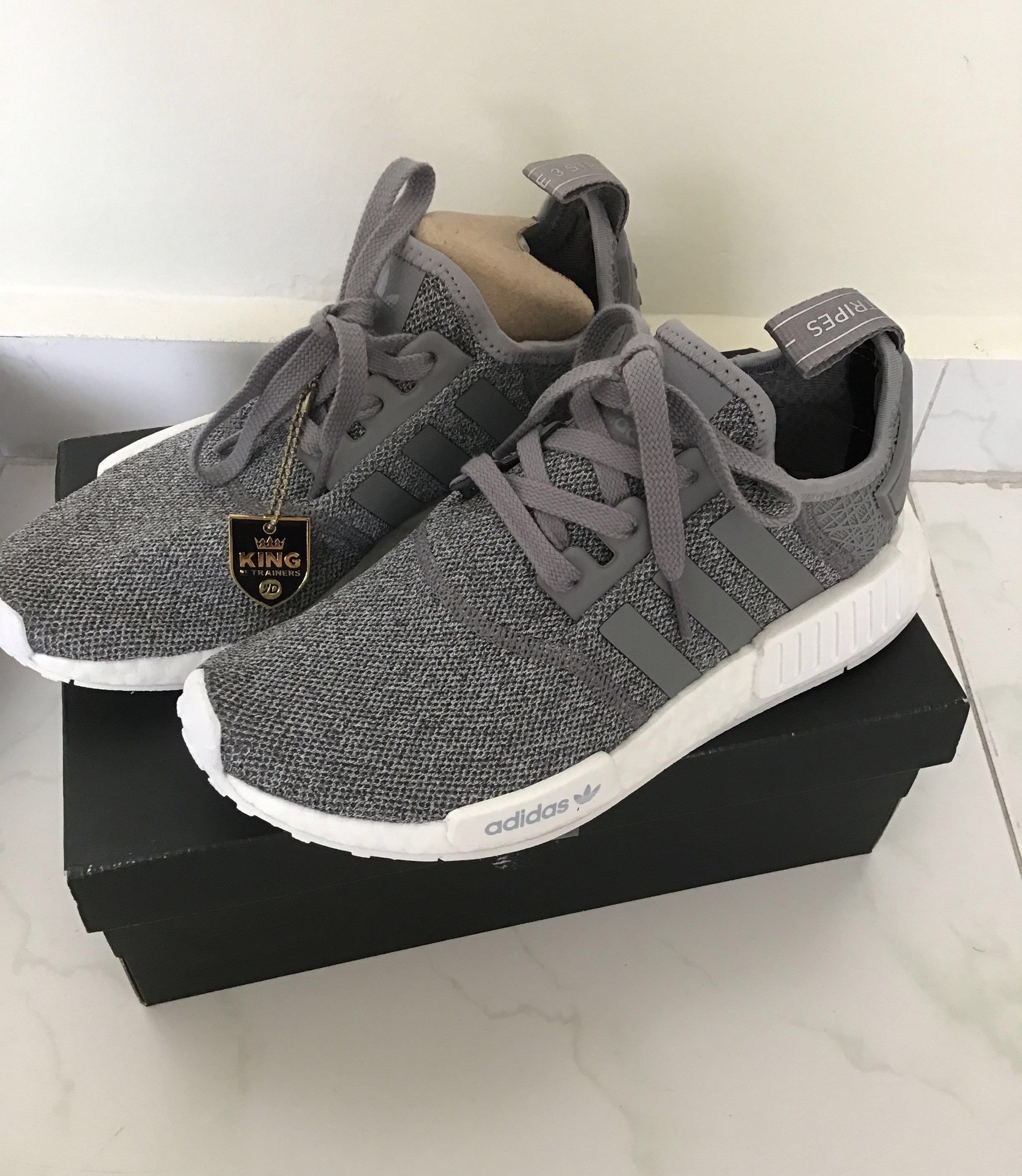 6cfc0b90 Adidas Originals NMD R1 Grey, Women's Fashion, Shoes, Sneakers on ...