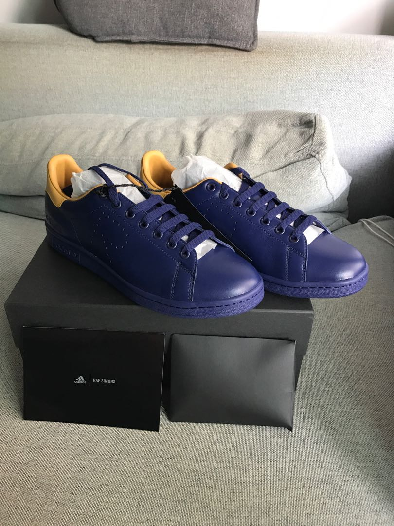 differently 16505 6c49d Adidas RAF Simons Stan Smith Navy Yellow sneaker, Mens Fashion, Footwear,  Sneakers on Carousell