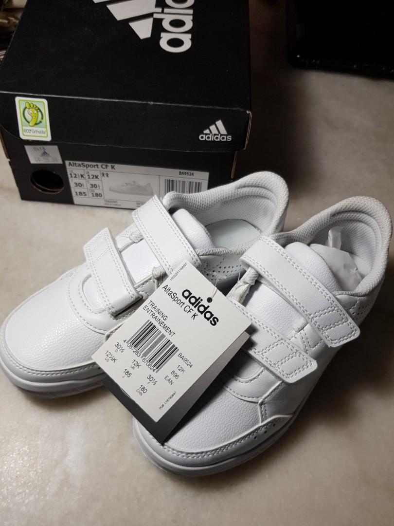 white adidas school shoes