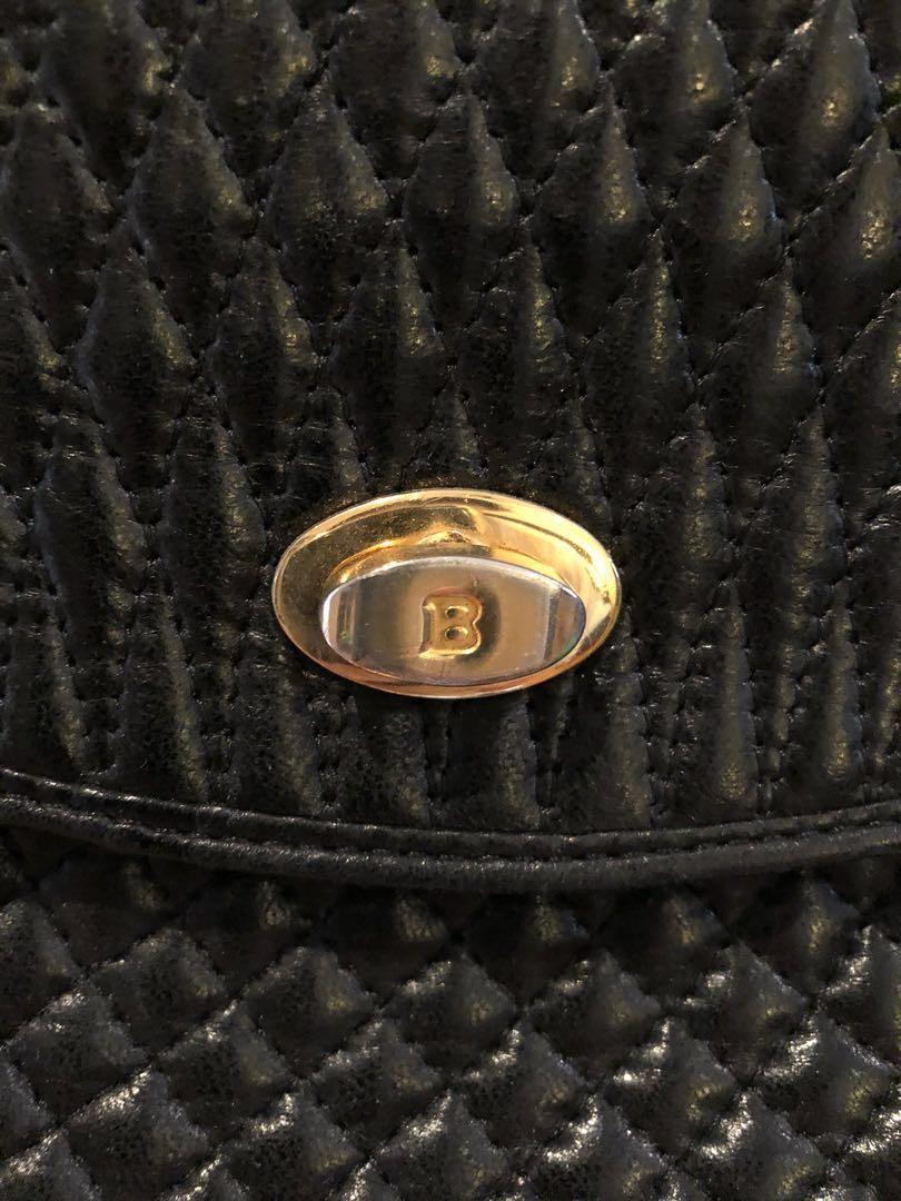 BALLY vintage clutch bag black