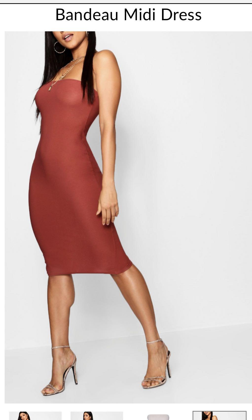 Bandeau mini dress