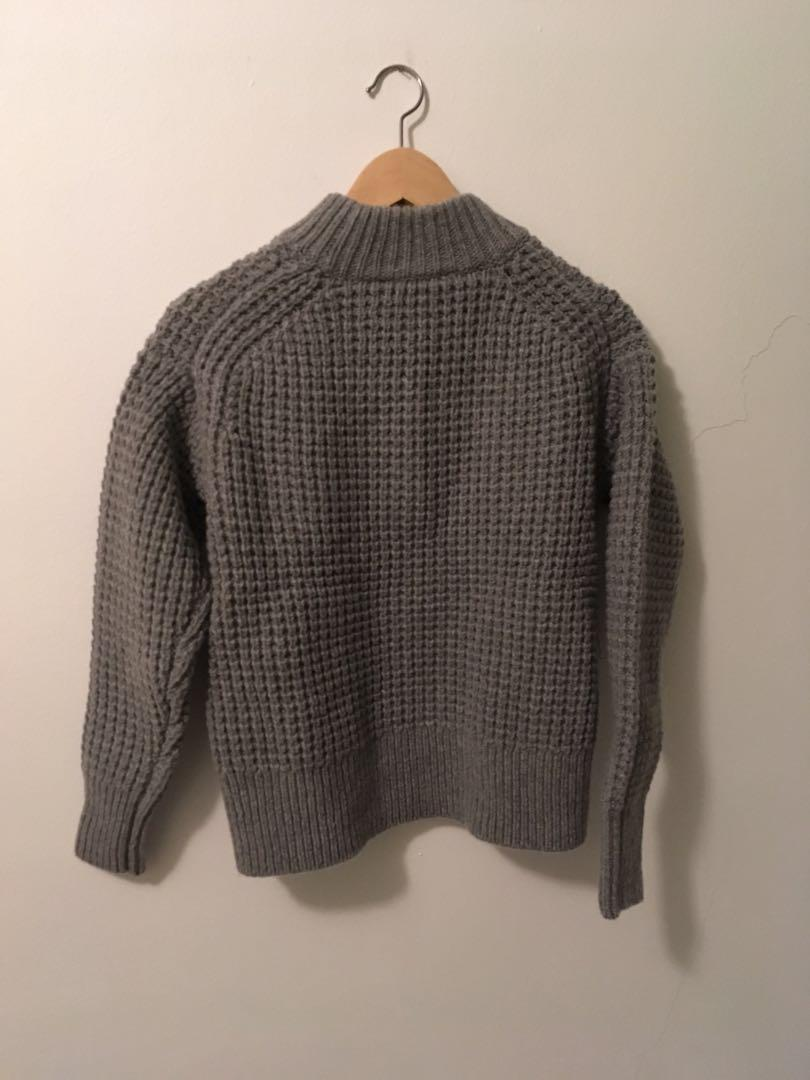 BNWT Everlane The Wool-Cashmere Waffle Square Crew