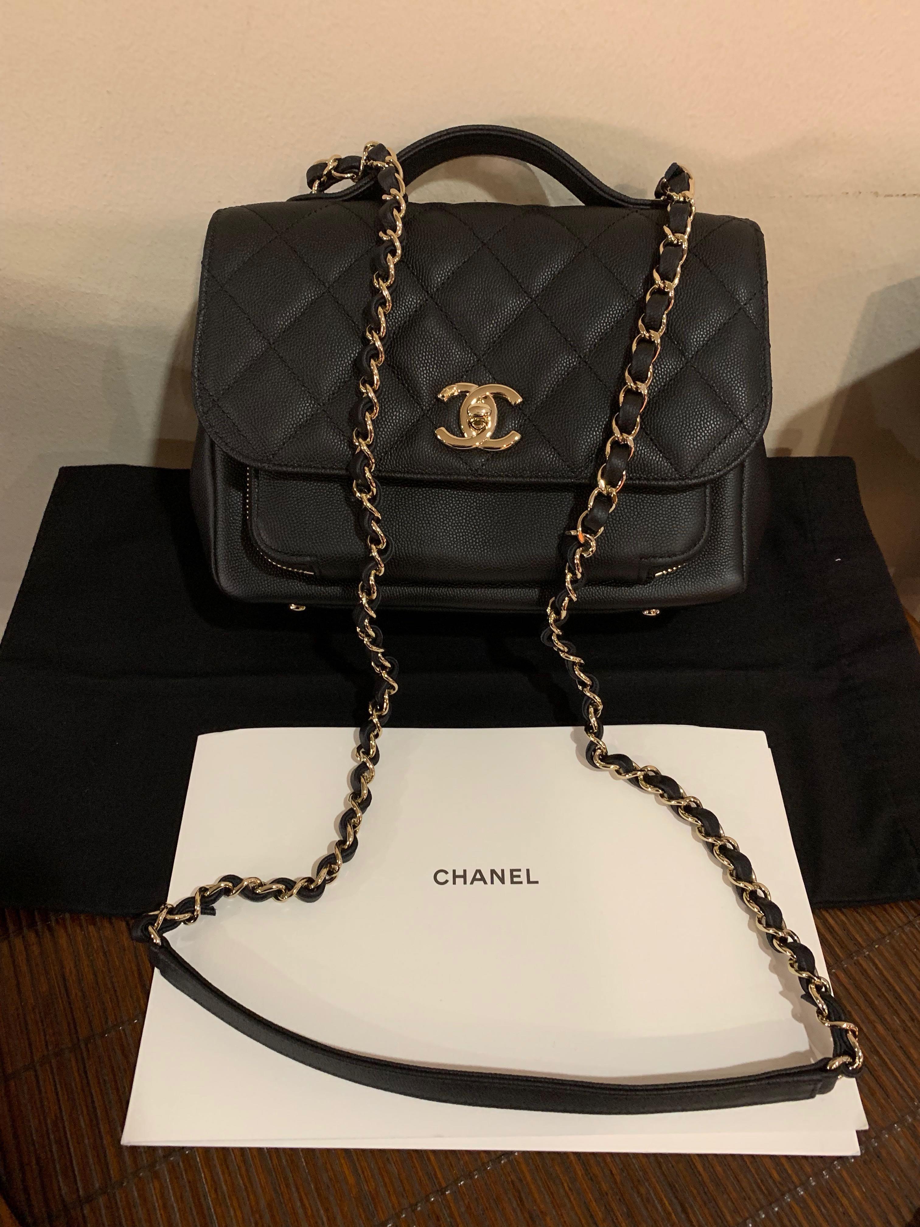 8609c8a592c8 Chanel Affinity Medium Black Caviar w/Champagne Hardware , Luxury ...