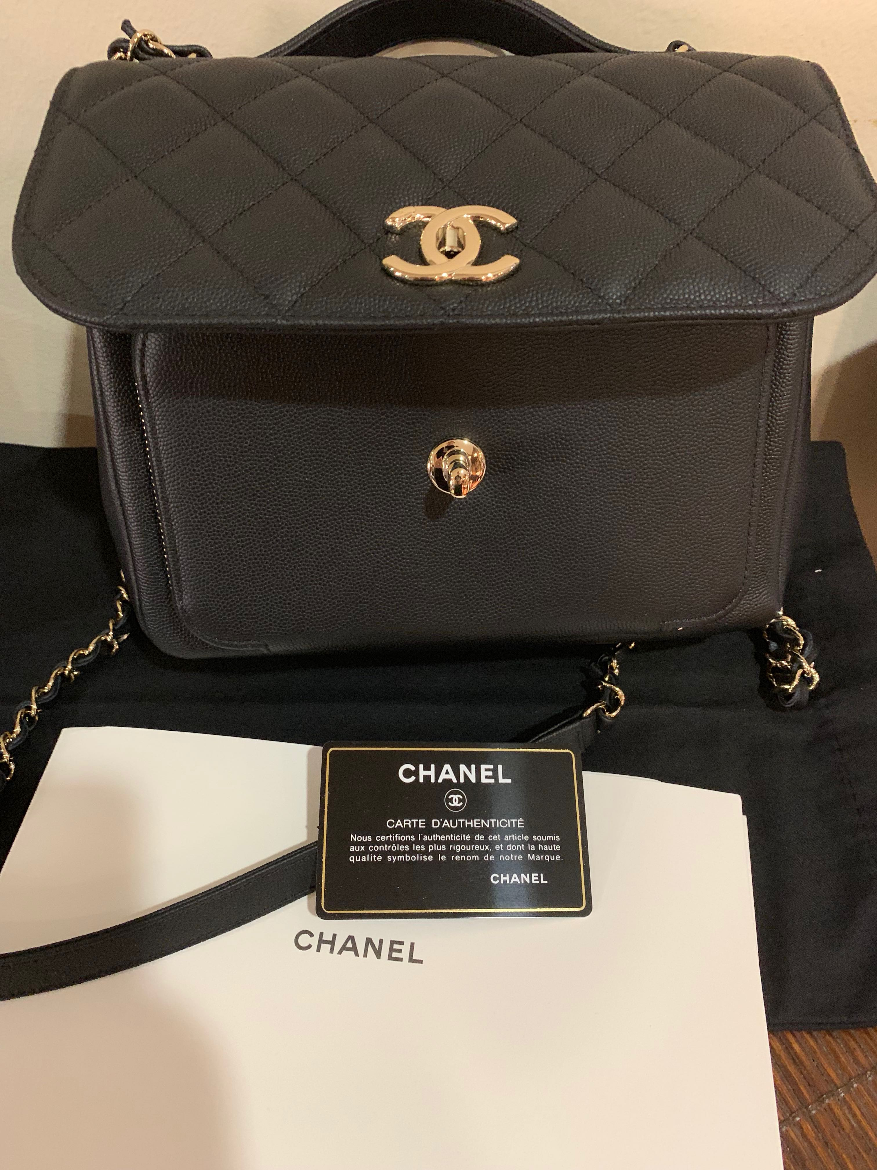 c4c6c819f3d8 Chanel Affinity Medium Black Caviar w/Champagne Hardware , Luxury, Bags &  Wallets, Handbags on Carousell