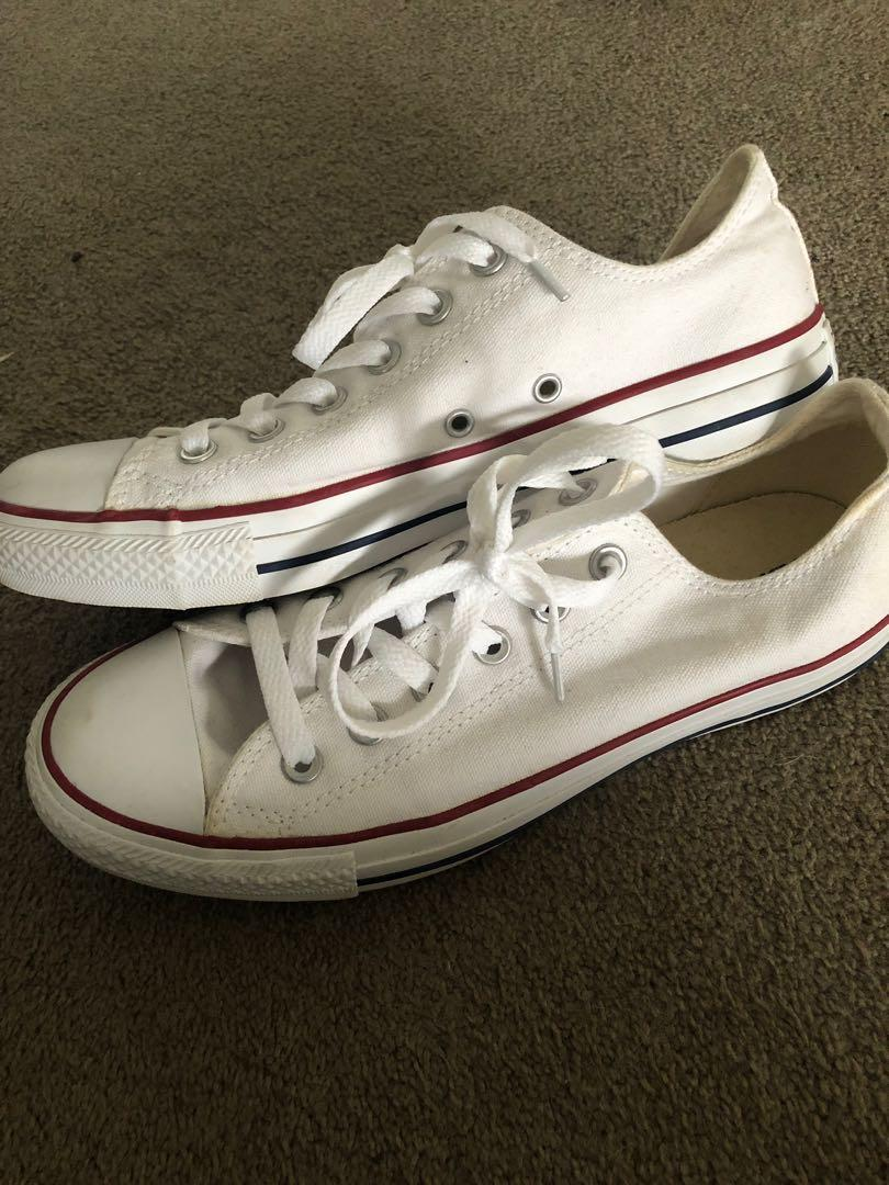Converse all star low trainer sneaker white. Size 9