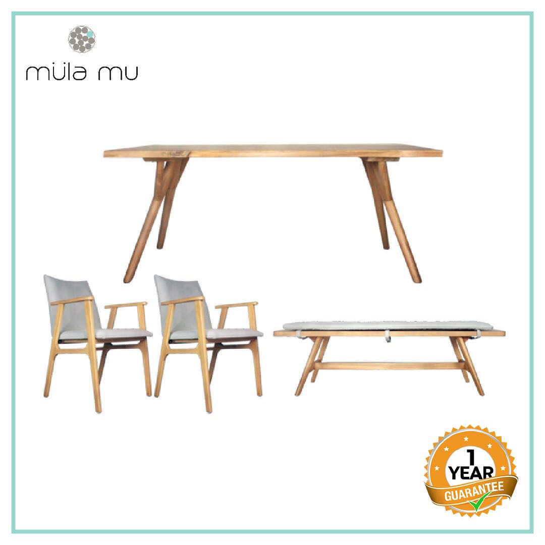 Astonishing Dubel Dining Table Bench 2 Chairs Interior Design Ideas Gentotryabchikinfo