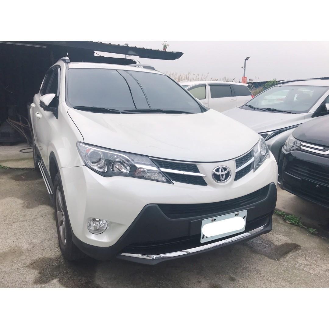 【FB搜尋桃園阿承】豐田 超人氣RAV4跑3萬 2015年 2.5 白色 二手車 中古車