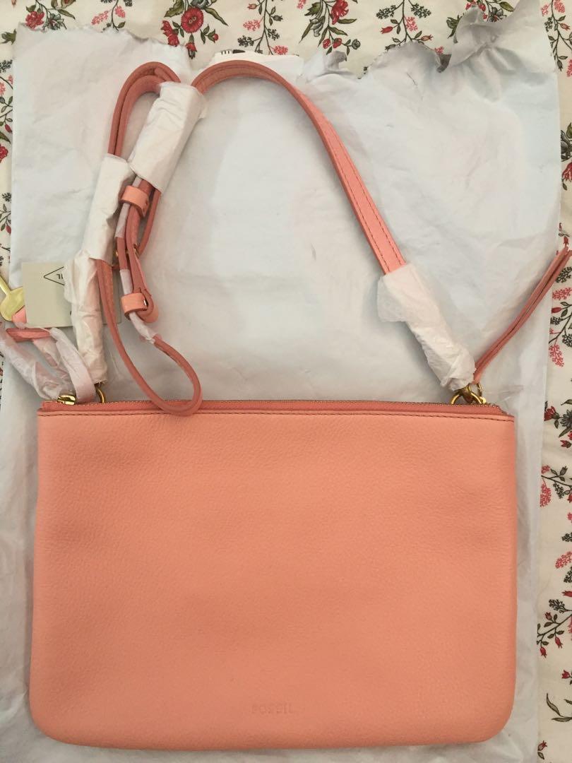 25e4138b0 Fossil devon crossbody(coral cloud), Women's Fashion, Bags & Wallets ...