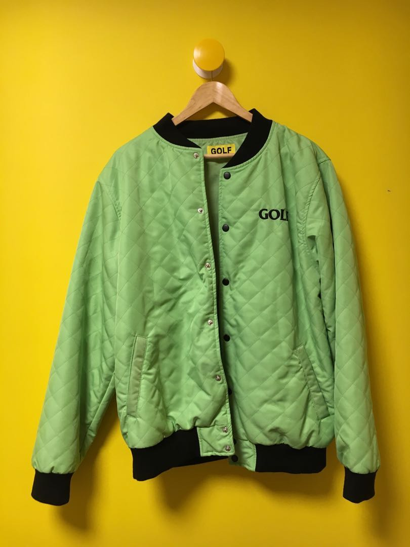 ca8ea4d60504 GOLF WANG FIND SOME TIME BOMBER LIME GREEN(XL)
