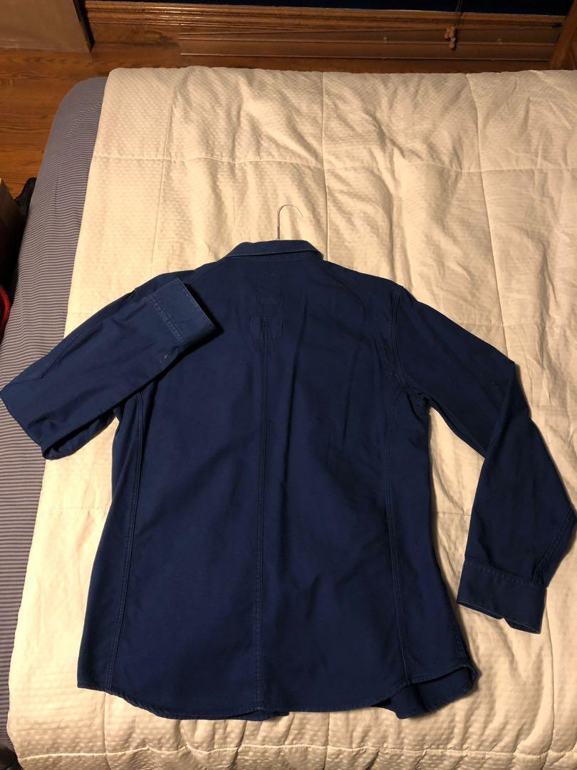 G-Star Raw; Denim Originals XL long-sleeved raw cargo-line button-up