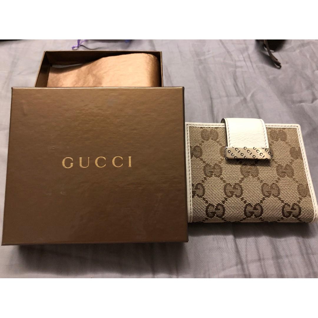 3dea63e446c Gucci Icon Bar Original GG Ascot Double Snap Bifold Wallet
