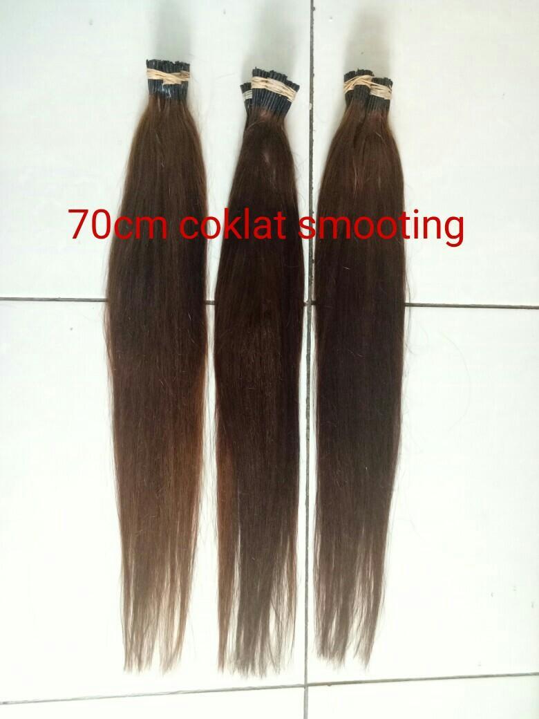 Hair extension/rambut sambung asli/rambut ring
