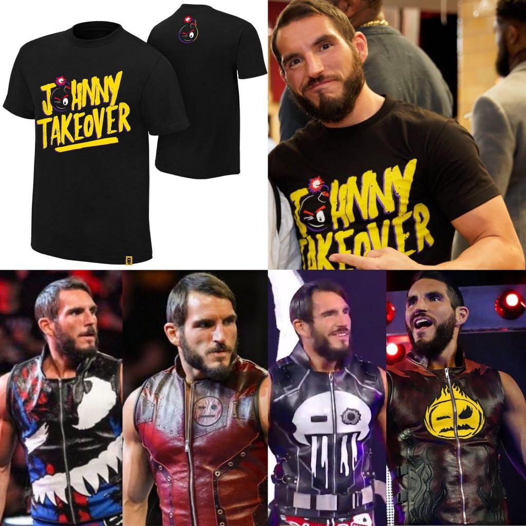 """Johnny Gargano /""""Johnny Wrestling/"""" Authentic T-Shirt NXT Official WWE"""