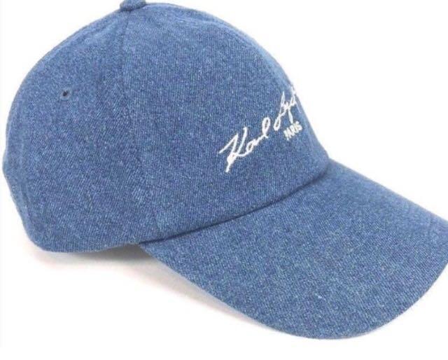 現貨🔥KARL LAGERFELD Paris 老佛爺帽子/棒球帽 (顏色:牛仔藍)(正面側面皆有LOGO)