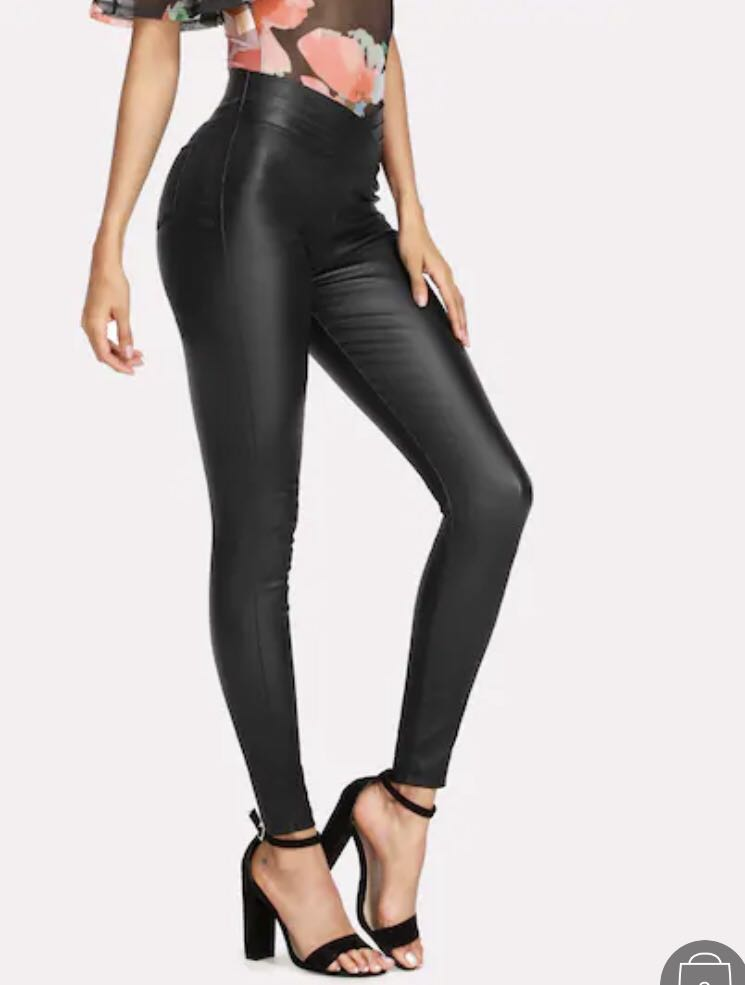 1a480c305a Leather pants (Sheinside), Women's Fashion, Clothes, Pants, Jeans & Shorts  on Carousell