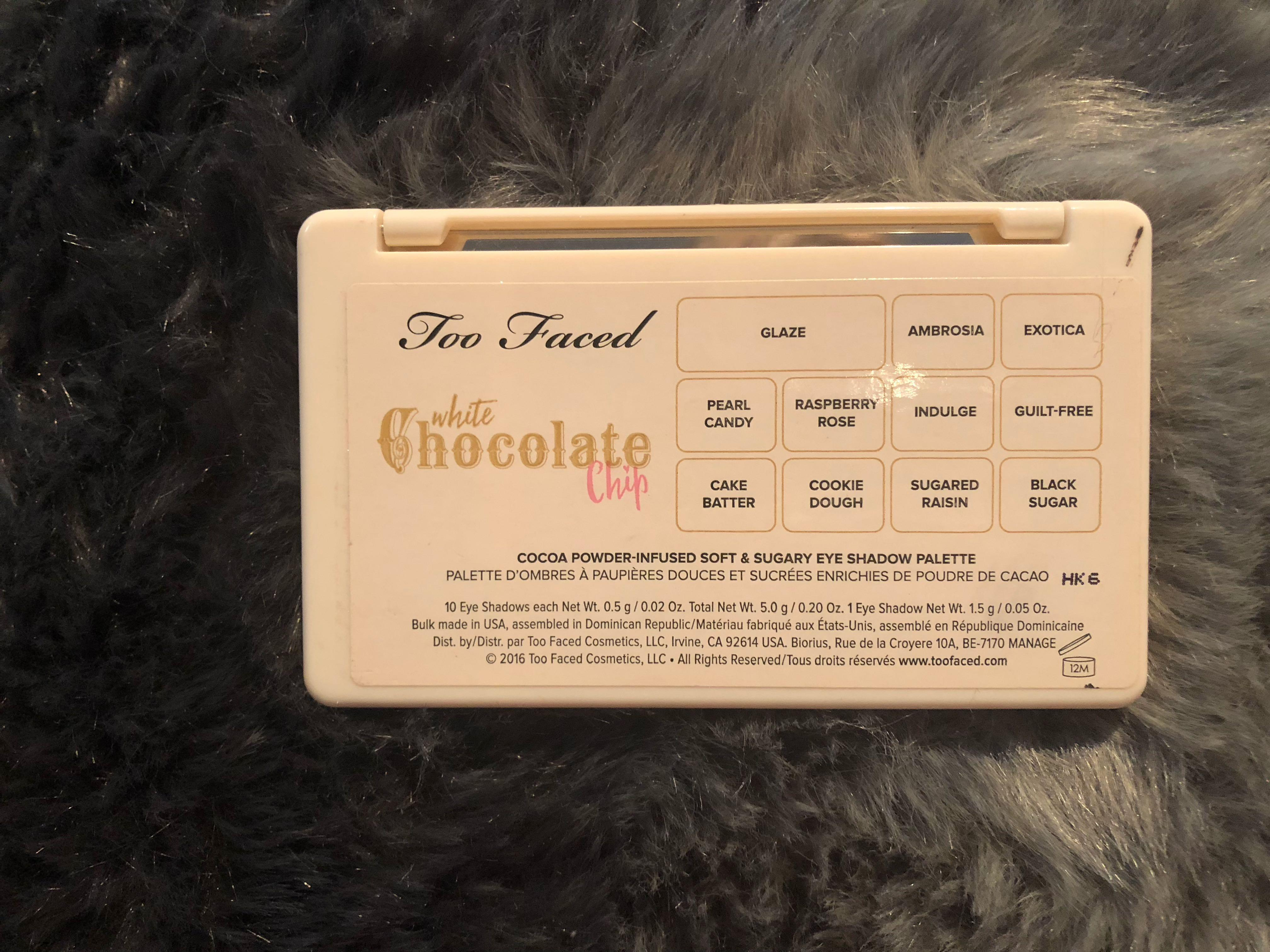 Limited Edition Too Faced White Chocolate Chip Mini Palette