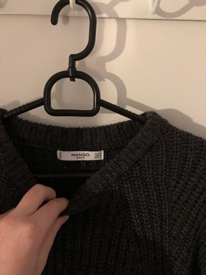 Mango grey sweater!