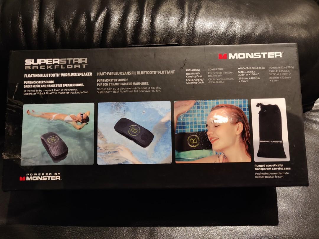 Monster  SuperStar BackFloat High Definition Bluetooth Speaker - Black & Neon Green
