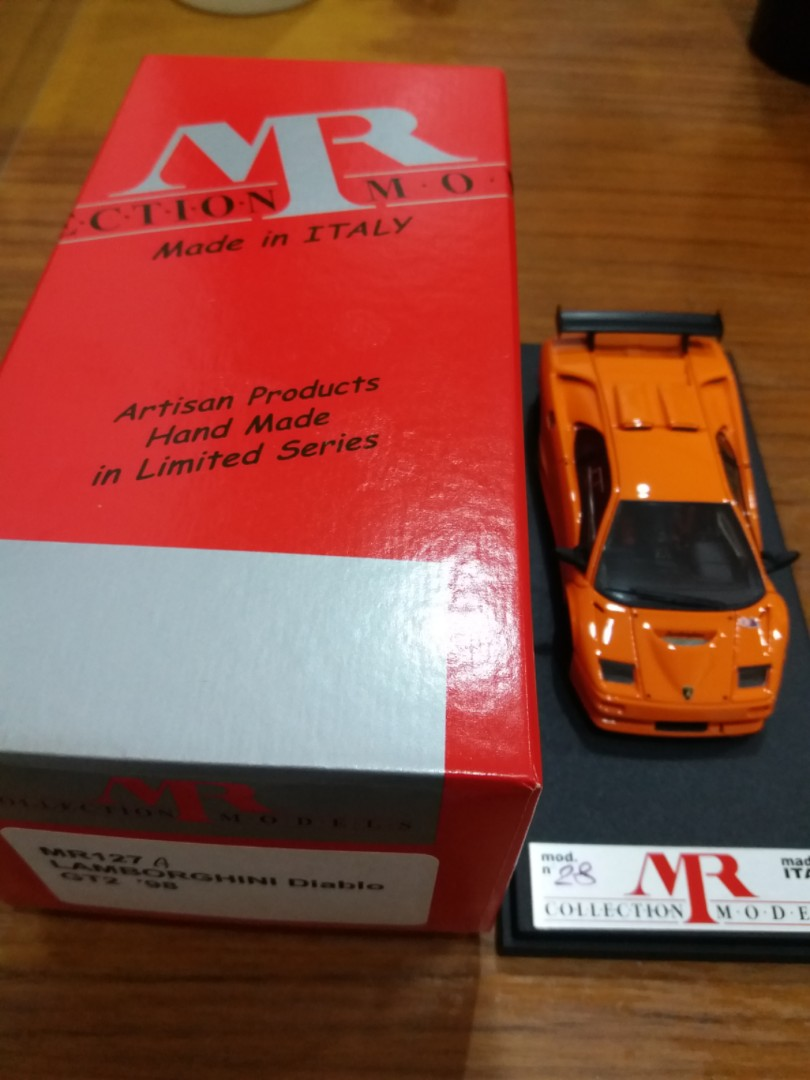 Mr Collection Mr Collection Car Model Hand Built Lamborghini Diablo Gt2 1998 Orange Car Model Mr127a 1 43