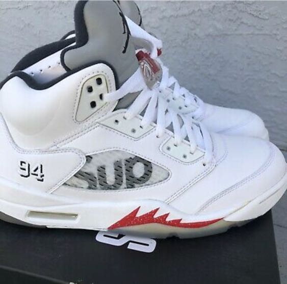 acaf51e3e9d NIKE AIR JORDAN X SUPREME COLLABORATION - AIR JORDAN 5 Size 11 ...