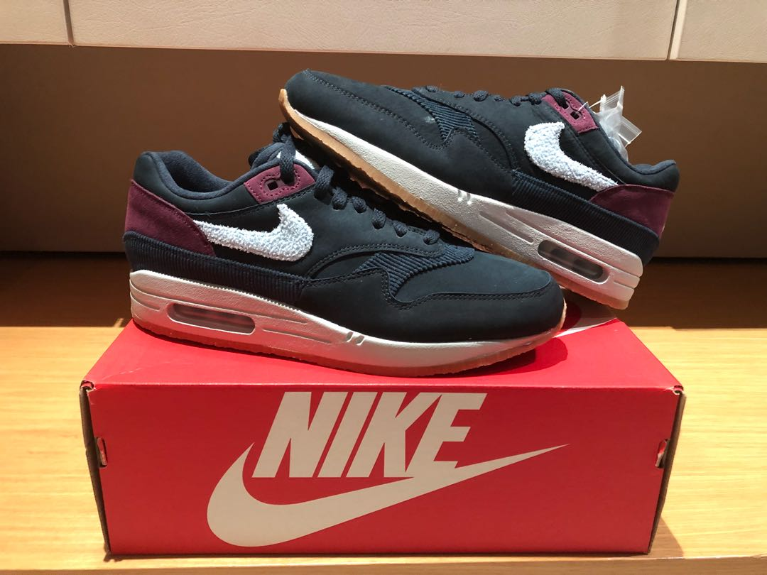 official photos e5a73 c126f Nike air max 1 crepe obsidian navy US 9, Men s Fashion, Footwear, Sneakers  on Carousell
