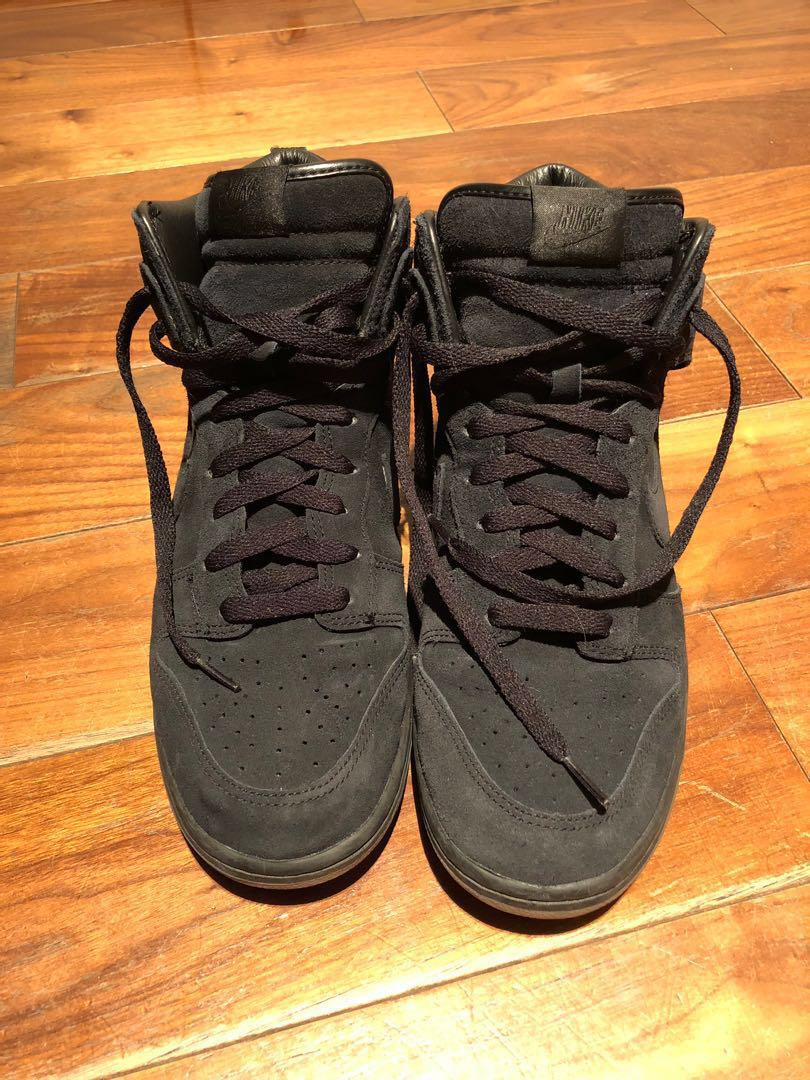buy popular 68a42 4f197 Nike X A.P.C. Dunk Hi black, Men s Fashion, Men s Footwear on Carousell