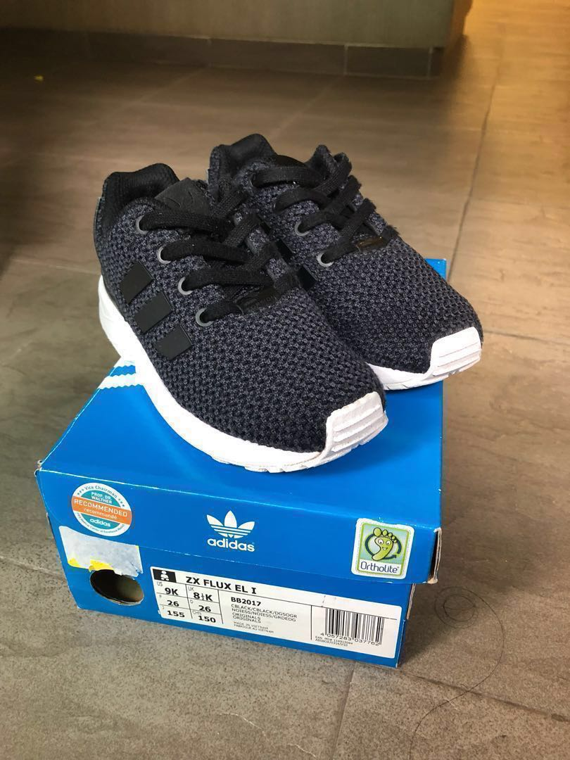 30a223fee PRICE DROP!! Genuine Adidas Kids ZX Flux Black Shoes for Sale ...