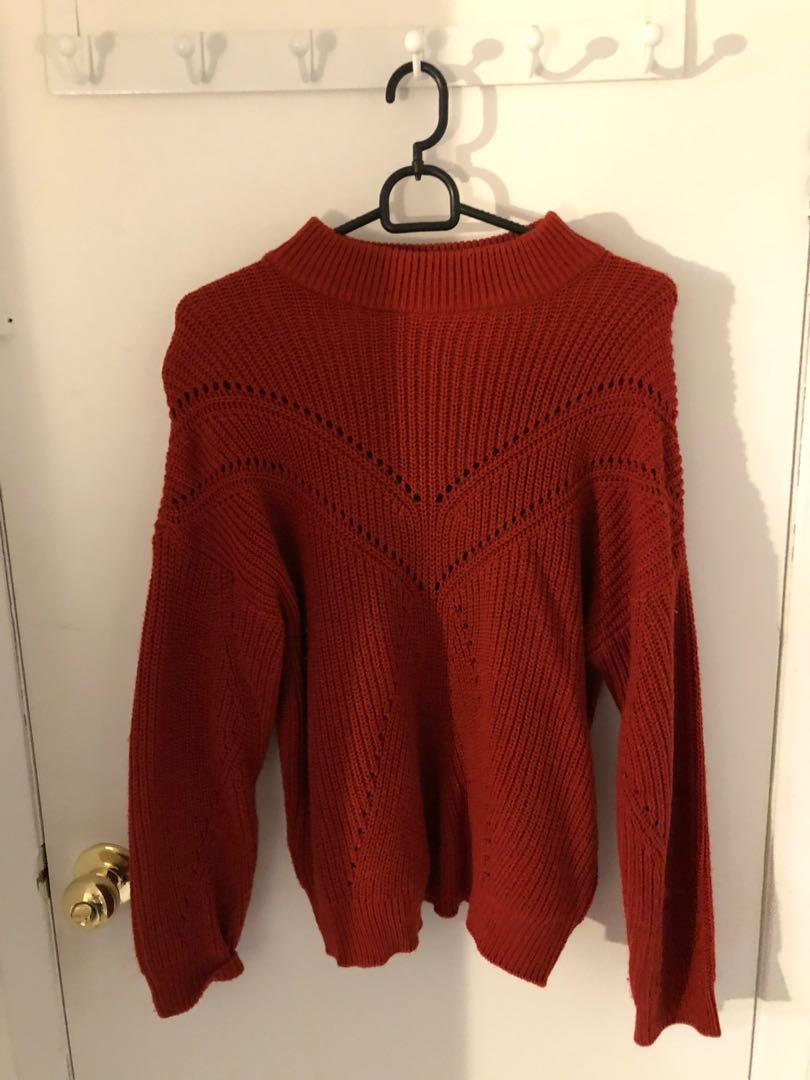 Red mango sweater