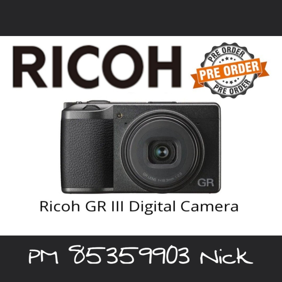 Ricoh GR lll (PRE-ORDER till 27th March 2019