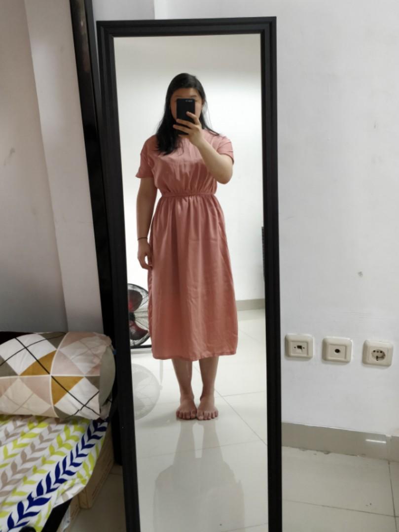Rose Gold Midi dress