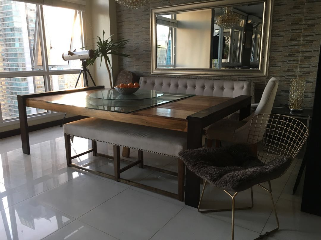 78b69469fc Rush sale : Large & Wooden Dining Table, Home & Furniture on Carousell