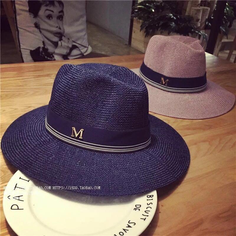 61c6bf2917ffb Straw fedora hat in dark blue and purple
