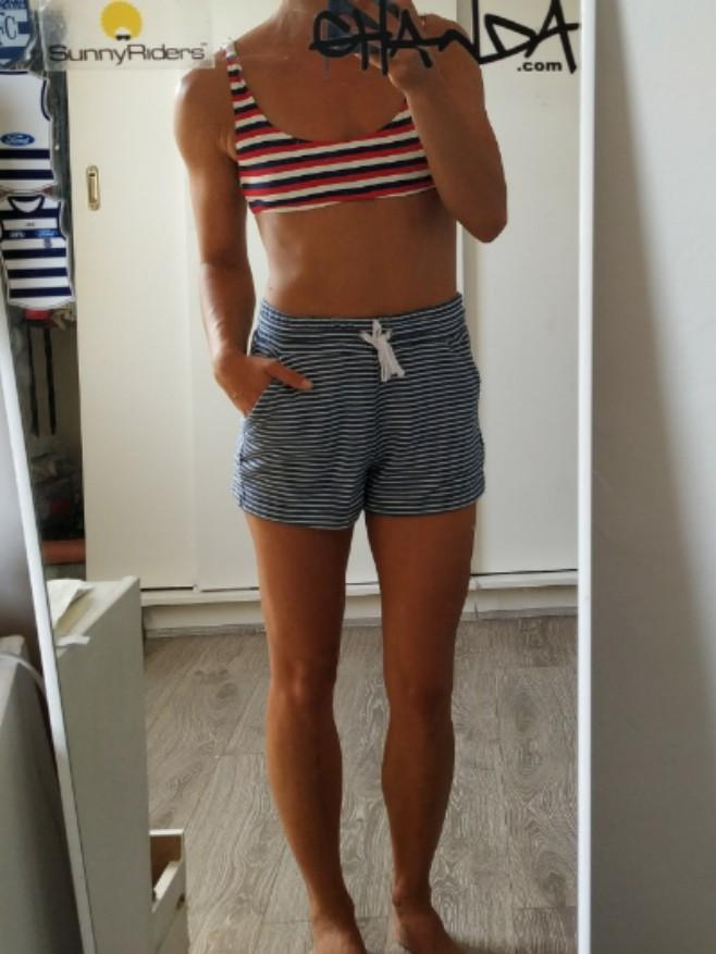 DEAL 2FOR$8 3FOR$10!!! SUPRÉ Navy white striped nautical vintage sporty shorts XS 6/8