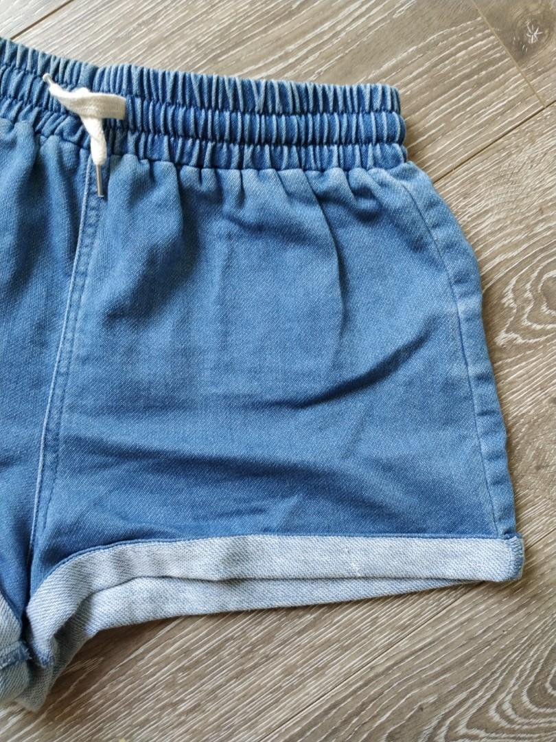 DEAL 2FOR$8 3FOR$10 Supré vintage retro denim look sporty shorts xs 6/8