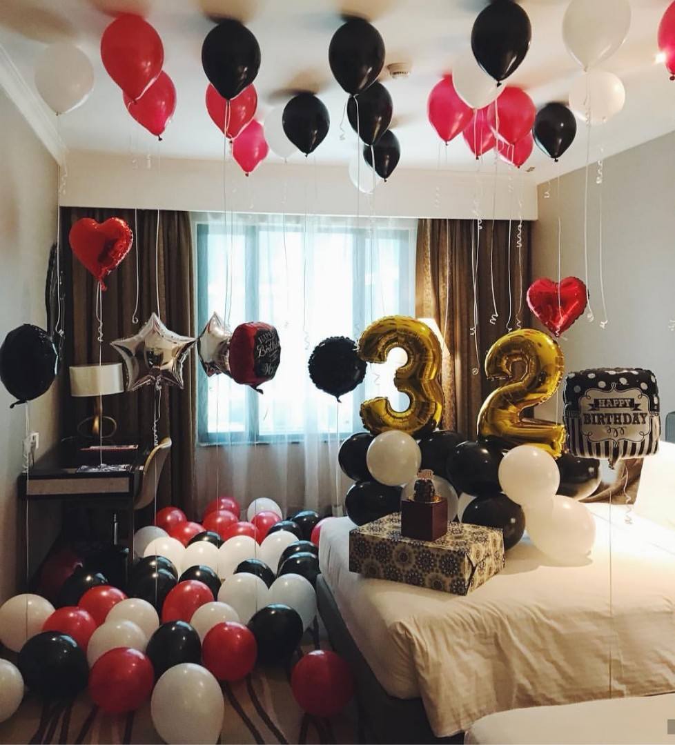 Surprise Birthday Decoration Set Up Hotel Room Everything Else On
