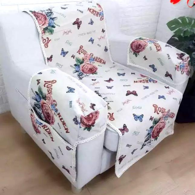 Tapestry 1 2 Set Wing Chair Sofa Cover