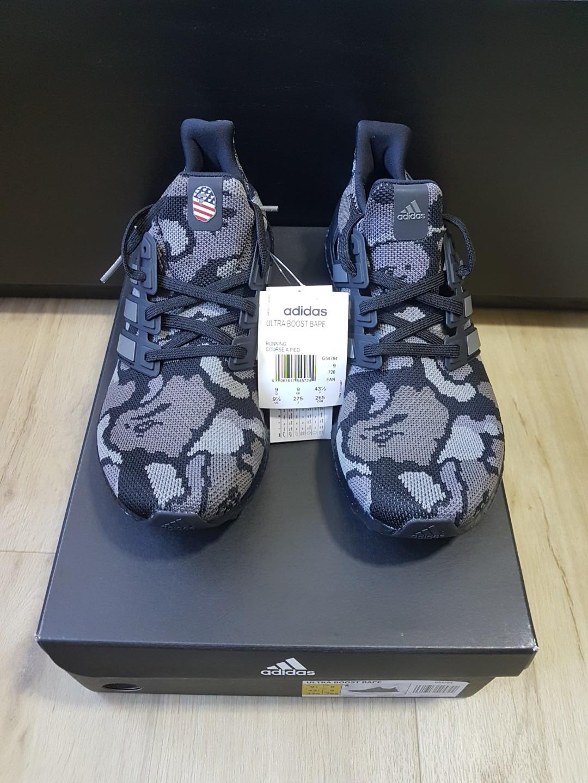 afb75740f8142 UK 9   US 9.5 Black Bape x Adidas